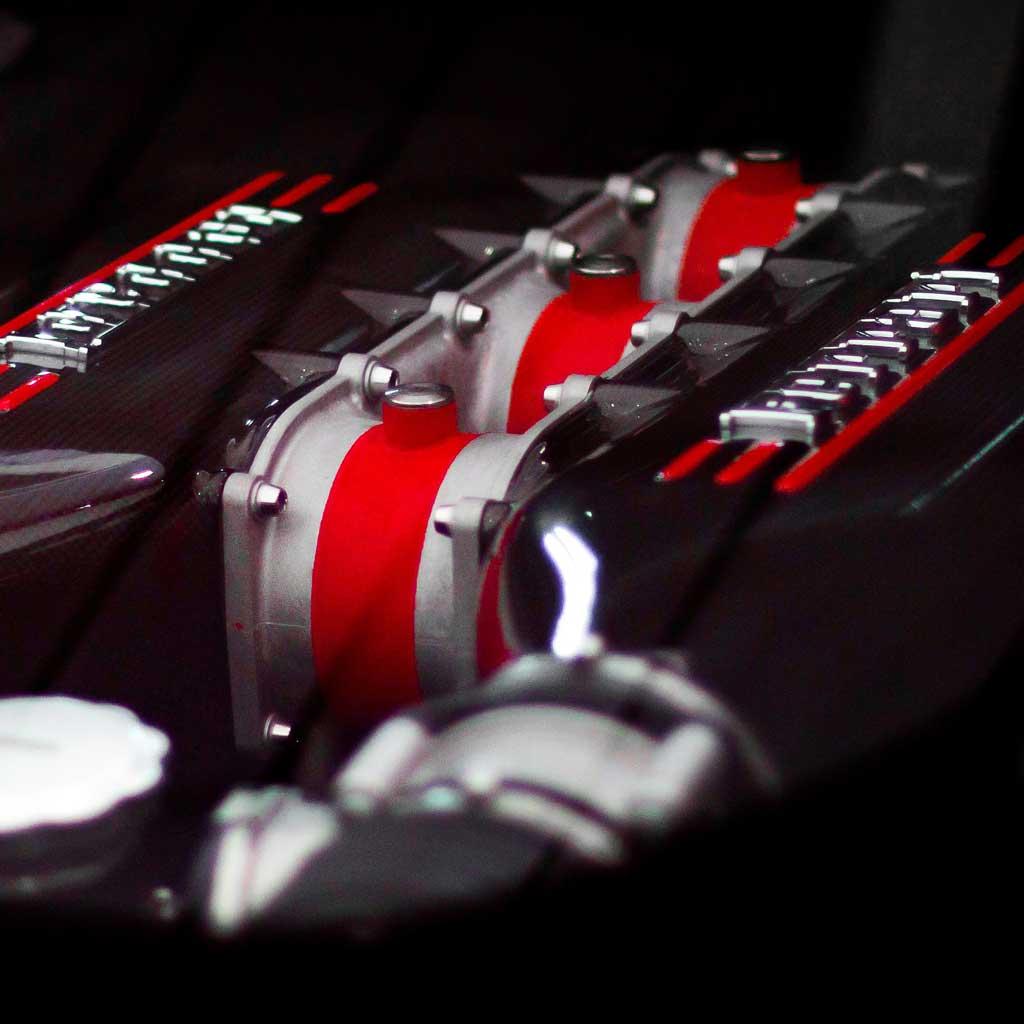 Ferrari Speciale Motor Detail Close-up