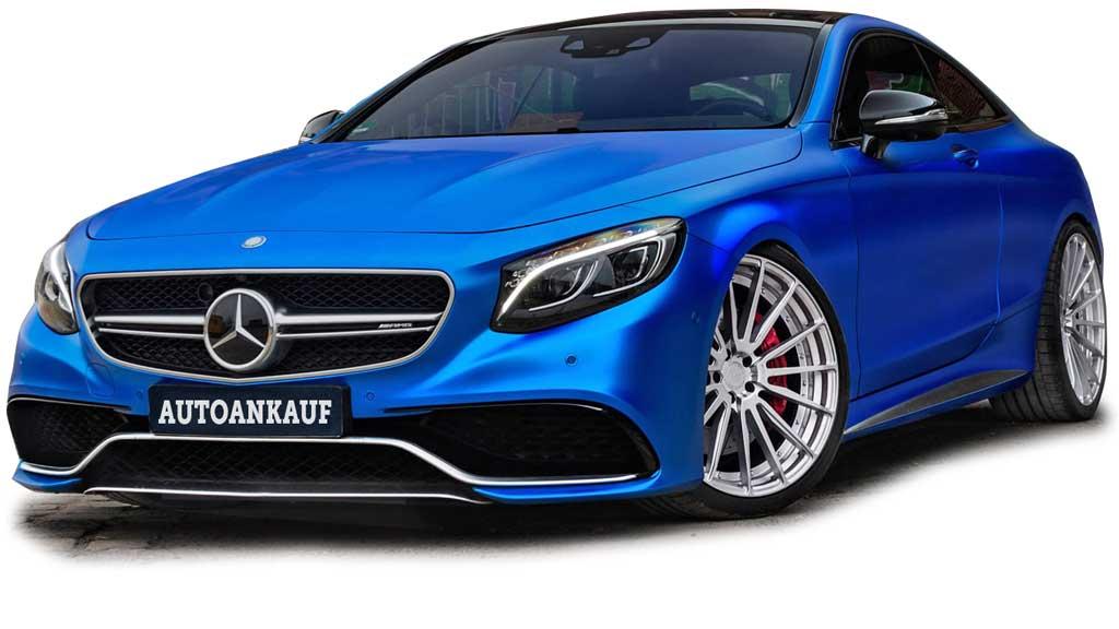 Mercedes Benz Coupe AMG blau-matt kaufe-alle-autos-schweiz
